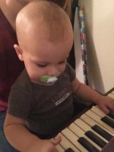 A future piano prodigy